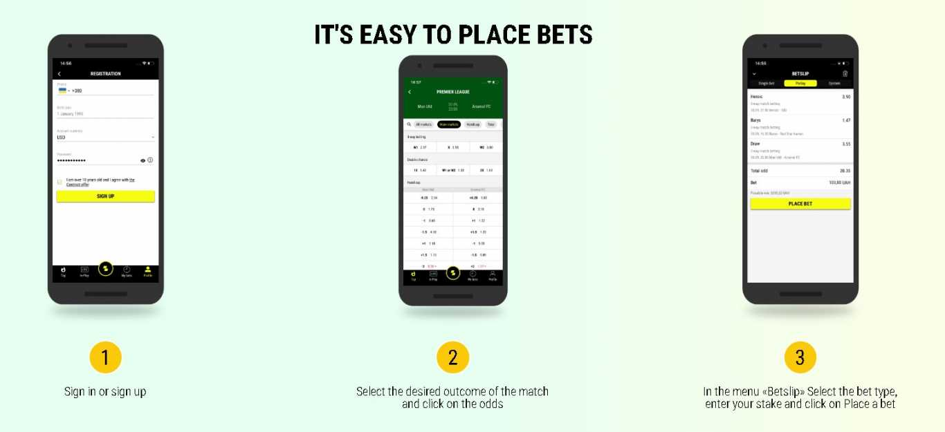 Parmatch easy to place bets
