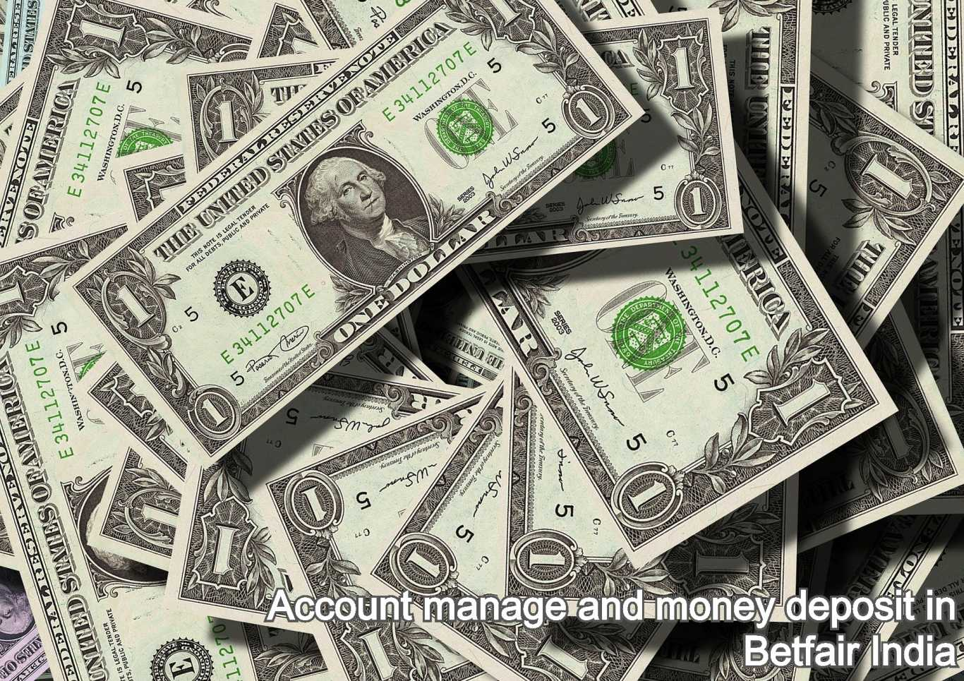 Account manage and money deposit in Betfair India