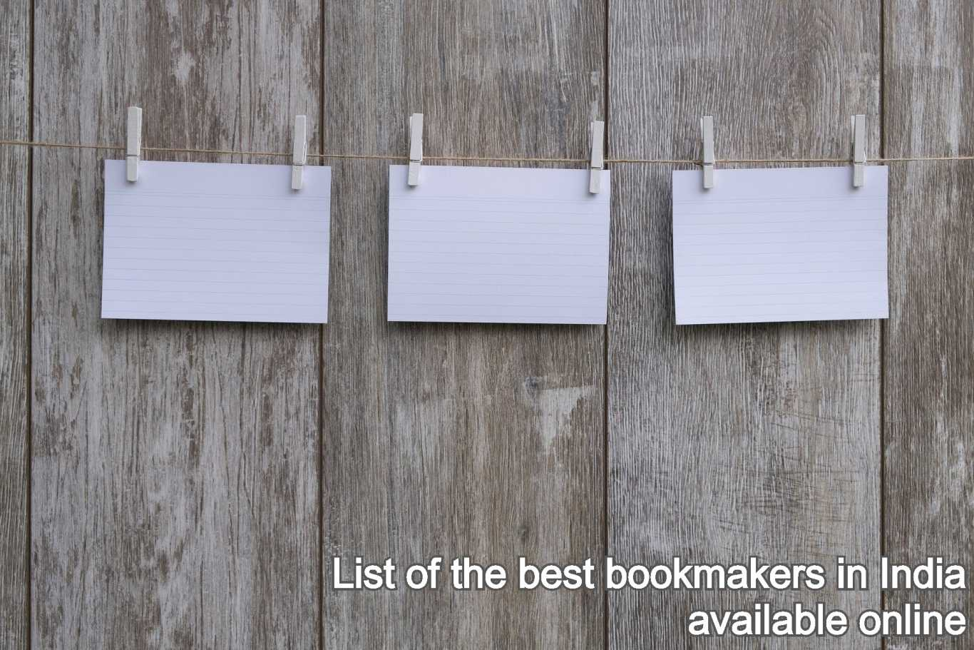 List of the best bookmakers in India available online